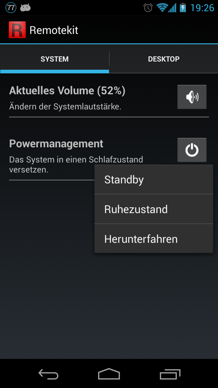 Powermanagement-Operationen